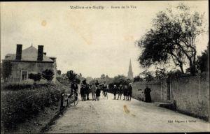Ak Vallon en Sully Allier, Route de Saint Vite, velos
