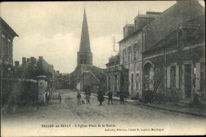 Ak Vallon en Sully Allier, Eglise, Place de la Mairie