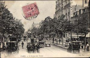 Ak Paris XVII., L'Avenue des Ternes, Kutschen