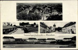 Ak Grafenwöhr in der Oberpfalz Bayern, Panorama, Arbeiterlager, Vilseck, Altneuhaus