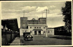 Ak Piła Schneidemühl Posen, Bahnhof