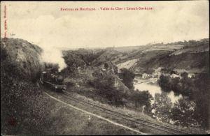 Ak Lavault Sainte Anne pres Montlucon Allier, Vallee du Cher, chemin de fer