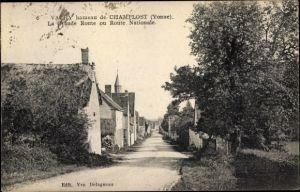 Ak Vachy hameau de Champlost Yonne, La Grande Route, Route Nationale