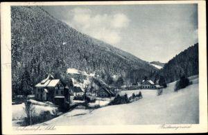Ak Sokołowsko Görbersdorf Schlesien, Büttnergrund, Winter
