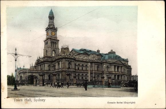 Ak Sydney Australien, Town Hall