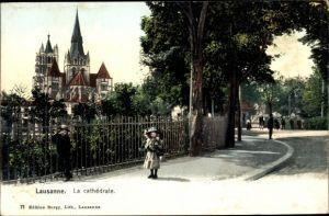 Ak Lausanne Kt. Waadt Schweiz, Cathedrale