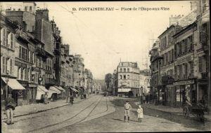 Ak Fontainebleau Seine et Marne, Place de l'Etape aux Vins