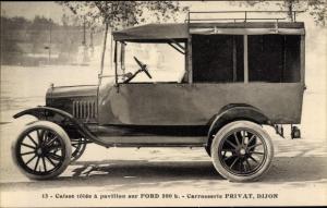 Ak Caisse tolée à pavillon sur Ford 500 k, Carrosserie Privat Dijon