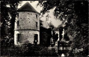 Ak La Houssaye Seine et Marne, Les trois Tours, Les Fosses du Chateau