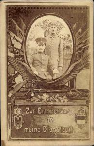 Ak Erinnerung an die Dienstzeit, Portrait zweier Soldaten