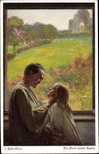 Künstler Ak Fahrenkrog, Ludwig, Seele deines Kindes