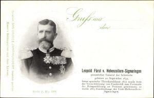 Ak Fürst Leopold von Hohenzollern Sigmaringen, General der Infanterie