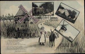 Ak Montfermeil Seine Saint Denis, Windmühle, Schloss, Festungsmauer