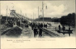 Ak Düsseldorf am Rhein, Gewerbe und Industrie Ausstellung 1902, Wasserrutschbahn