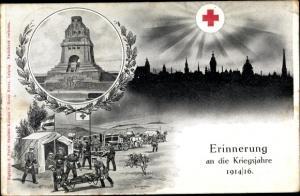 Ak Deutsches Rotes Kreuz, Feldlazarett im I. WK, Völkerschlachtdenkmal