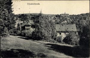 Ak Friedrichroda im Thüringer Wald, Teilansicht