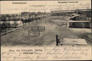 Ak Jüterbog in Brandenburg, Wellblechbaracken, Schießplatz, Neues Lager, Kgl. Proviantamt