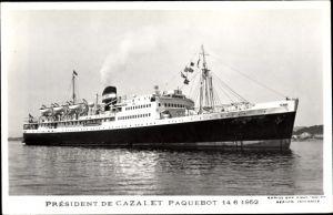 Ak Dampfer Président de Cazalet, Compagnie de Navigation Mixte