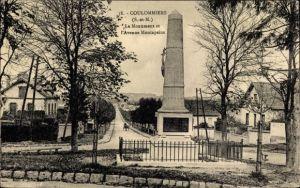 Ak Coulommiers Seine et Marne, Le Monument, L'Avenue Montapeine