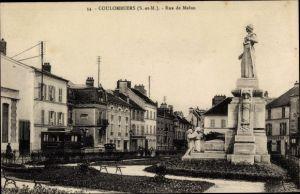Ak Coulommiers Seine et Marne, Rue de Melun