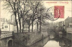Ak Coulommiers Seine et Marne, Le Pont Rouge