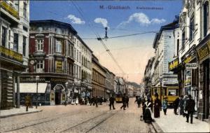 Ak Mönchengladbach in Nordrhein Westfalen, Krefelder Straße