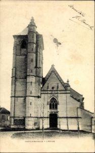 Ak Ivry la Bataille Eure, Vue de l'Église