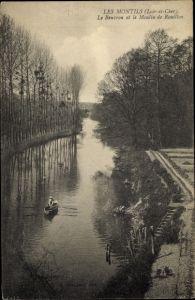 Ak Les Montils Loir et Cher, Le Beuvron, Le moulin de Rouillon