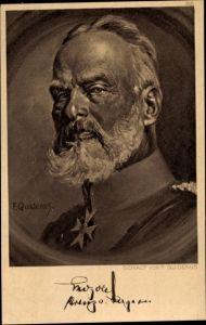 Künstler Ak Quidenus, Fritz, Prinz Leopold von Bayern, General, Portrait