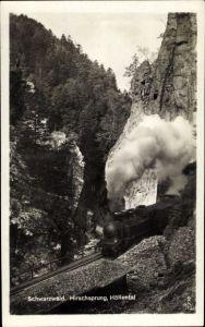 Ak Dampfeisenbahn im Schwarzwald, Fahrt aus Tunnel, Hirschsprung, Höllental