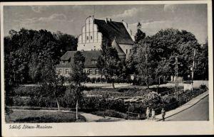 Ak Giżycko Lötzen Ostpreußen, Schloss Lötzen in Masuren