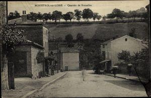 Ak Monistrol sur Loire Haute Loire, Quartier de Brunelles