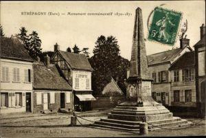 Ak Étrépagny Eure, Monument commémoratif