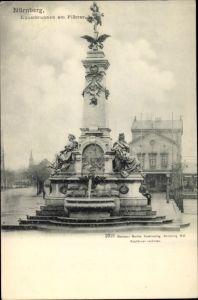 Ak Nürnberg in Mittelfranken Bayern, Kunstbrunnen, Plärrer