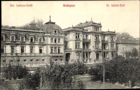 Ak Budapest Ungarn, Szt. Lukacs fürdö, St. Lukas Bad