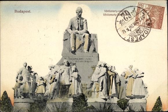 Ak Budapest Ungarn, Vörösmarty szobor, Denkmal