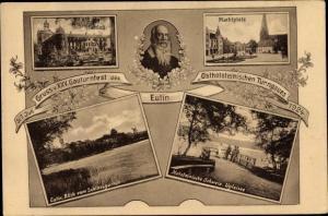 Ak Eutin in Ostholstein, XXV Gauturnfest 1924, Schloss, Ugleisee, Turnvater Jahn