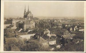 Ak Brno Brünn Südmähren, Blick vom Franzensberg