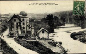 Ak Lavault Sainte Anne Allier, Moulin, bords de la riviere