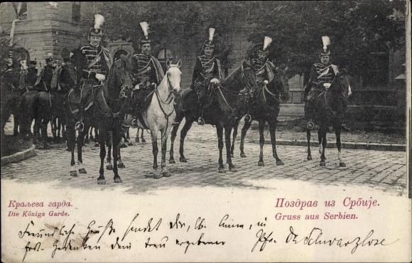Ak Serbien, Königsgarde, Pferde