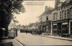 Ak Montoire sur le Loir Loir et Cher, La Place G. Clémenceau