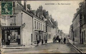 Ak Montoire sur le Loir Loir et Cher, Rue Saint Laurent