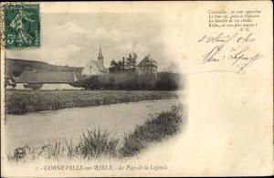 Ak Corneville sur Risle Eure, Le Pays de la Légende
