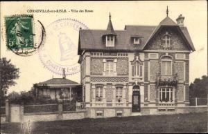 Ak Corneville sur Risle Eure, Villa des Roses
