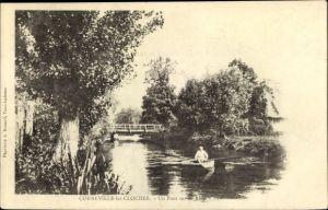 Ak Corneville les Cloches Eure, Un Pont sur la Risle
