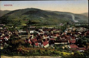 Ak Munster Münster Elsaß Elsass Haut Rhin, Gesamtansicht der Stadt