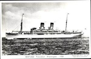 Ak Dampfschiff Watussi, Deutsche Ost Afrika Linie, DOAL