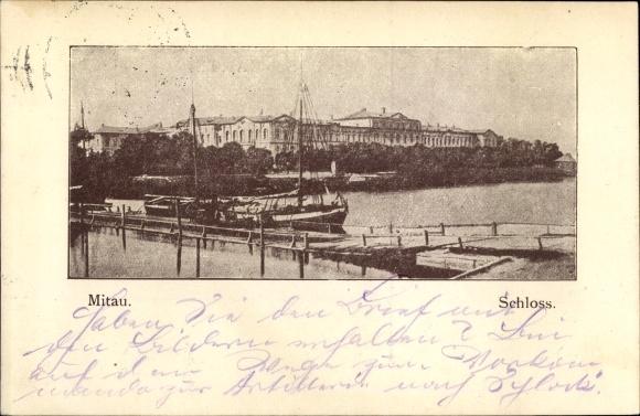 Ak Jelgava Mitau Lettland, Blick zum Schloss