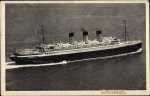 Ak Paquebot SS Paris, CGT, French Line