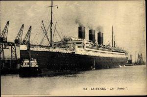 Ak Le Havre, Paquebot Paris, CGT, French Line